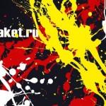 Шаблон визитки в psd с черным фоном и каплями краски