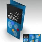 Бесплатный буклет с синим фоном в eps