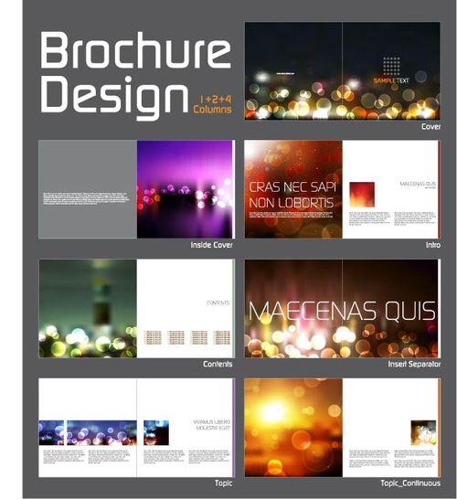 Набор брошюр с фотографиями в eps