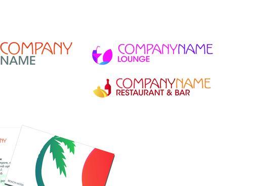 Образец визитки для ресторана и бара