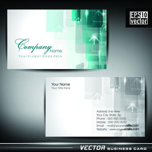 Шаблон визитки в векторе
