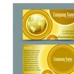 Шаблон визитки с золотом
