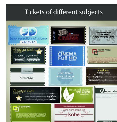 Набор шаблонов визиток для кинотеатра