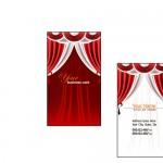 Шаблон визитки для салона штор