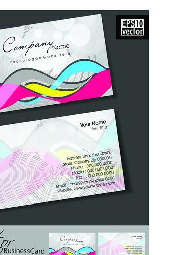 Образец визитки для бассейна