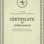 Шаблон сертификата в eps