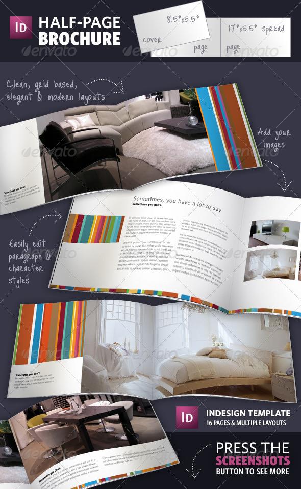 Шаблон брошюры для мебельного магазина сделанный в InDesign