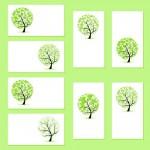 Шаблоны визиток с деревьями