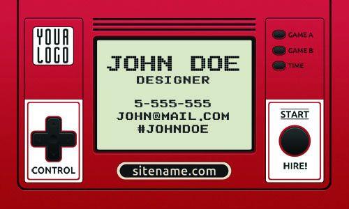 Шаблон визитки игрового дизайнера