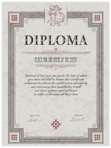 Шаблон дизайна диплома по бальным танцам