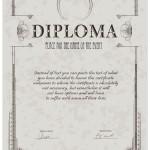 Бесплатный шаблон диплома в пастельных тонах