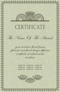 Шаблон сертификата об окончании учебного заведения в eps