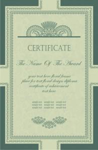 Шаблон сертификата об окончании учебного заведения