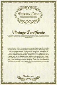Бесплатный шаблон сертификата в eps