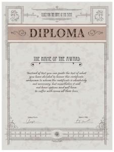 Бесплатный образец диплома в eps