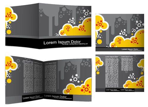 Брошюра с желтыми цветами