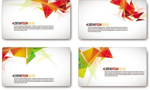 Шаблон визитки в векторе c геометрическими фигурами