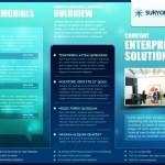 Корпоративный буклет синего цвета в psd