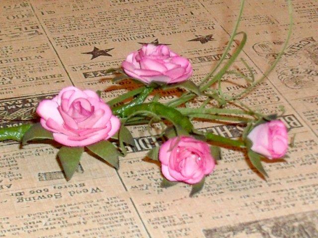 Розы для скрапбукинга мк