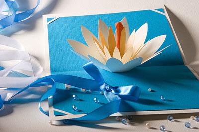Цветок лотоса для открытки своими руками