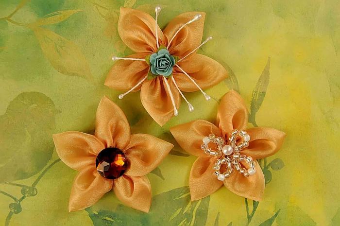 Цветы из ОРГАНЗЫ Своими руками / Мастер класс. - Pinterest