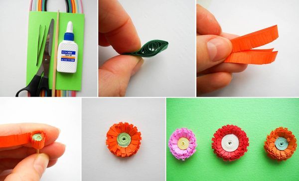 Цветы с зелеными листочками своими руками