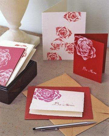 Простой штампик для открытки своими руками