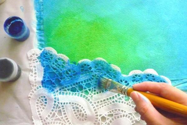 Мастер-класс по созданию фона с использованием акриловых красок