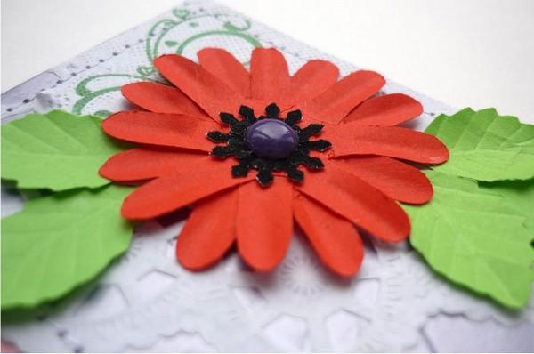 Цветные полубусинки для открытки своими руками