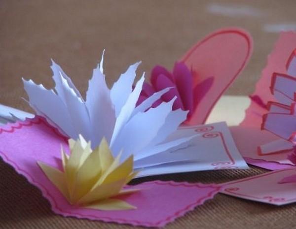 Цветок своими руками из бумаги для открытки своими руками