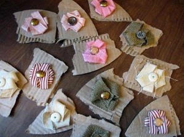 Цветочки из ткани своими руками