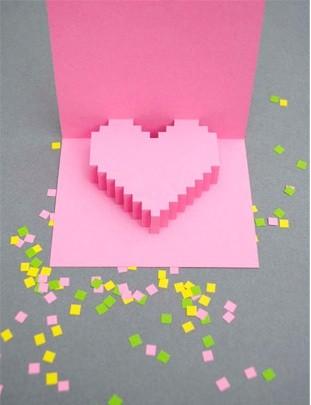 Объемная открытка с сердцем своими руками