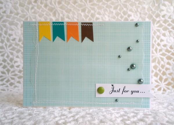 Очень простая подарочная открытка