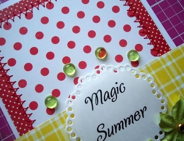 Летняя поздравительная открытка