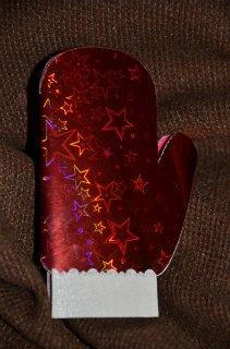 Открытка руковичка Деда Мороза