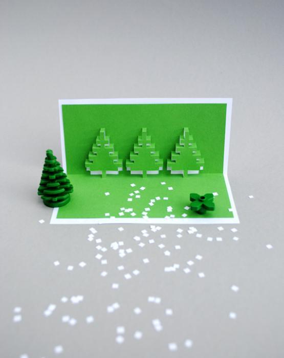 Объемные открытки для нового года своими руками