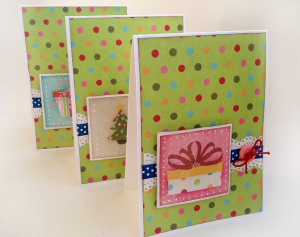 Три новогодних открытки своими руками