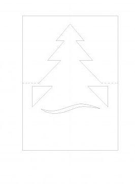 Шаблон объемной новогодней открытки