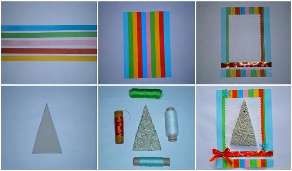 Пошаговая инструкция изготовления Новогодней открытки