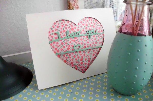Валентинка сделанная своими руками готова!