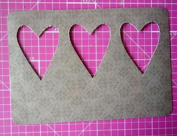 Валентинка с тремя сердцами своими руками