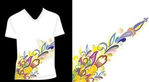 Образец принта с цветами в eps