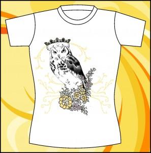 Шаблон принта «Сова с короной»