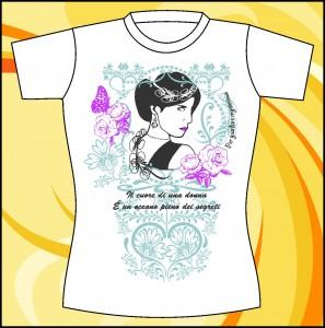 """Шаблон принта """"Образ девушки в цветочном орнаменте"""""""