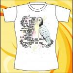 Макет принта «Девушка с крыльями»