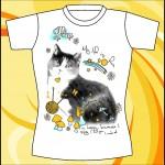 Шаблон принта с котенком в формате eps
