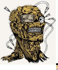 """Образец принта для футболки """"Человек - демон"""""""