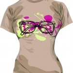 Образец принта с очками в eps