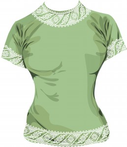Шаблон принта на футболку в виде узоров