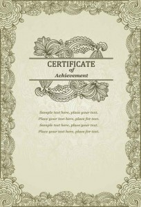 Шаблон для сертификата своими руками